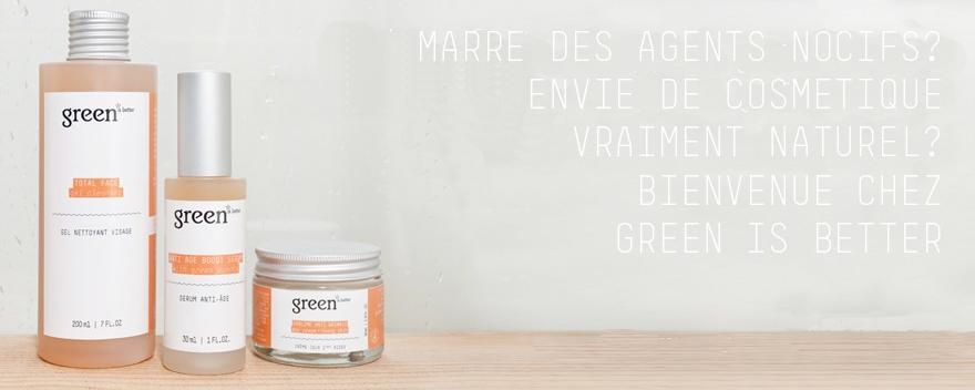 Green is better cosmetics : une marque qui mérite d'être connue