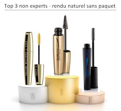 top 3 mascaras non expert
